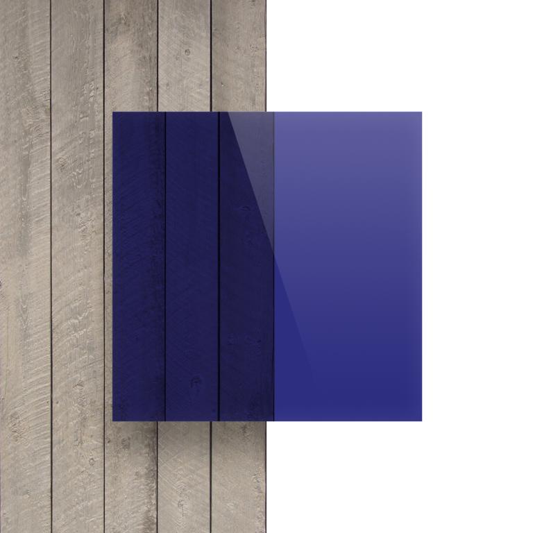 Vorseite Acrylglas Platte getoent blau