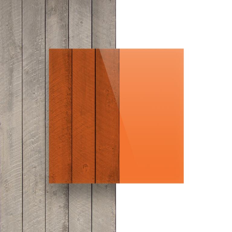 Vorseite Acrylglas Platte getoent orange