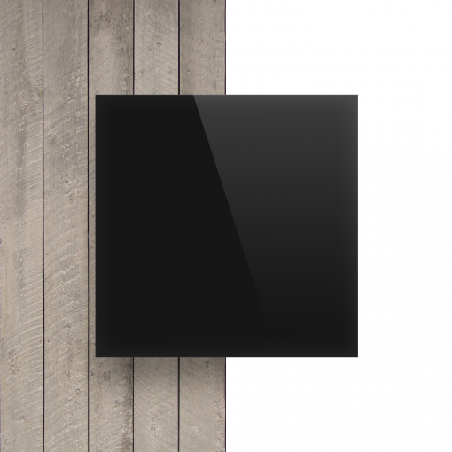 Vorseite Acrylglas Platte glanzend ebony