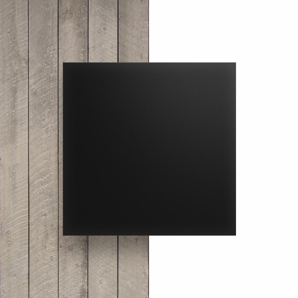 Vorseite Acrylglas Platte matt ebony