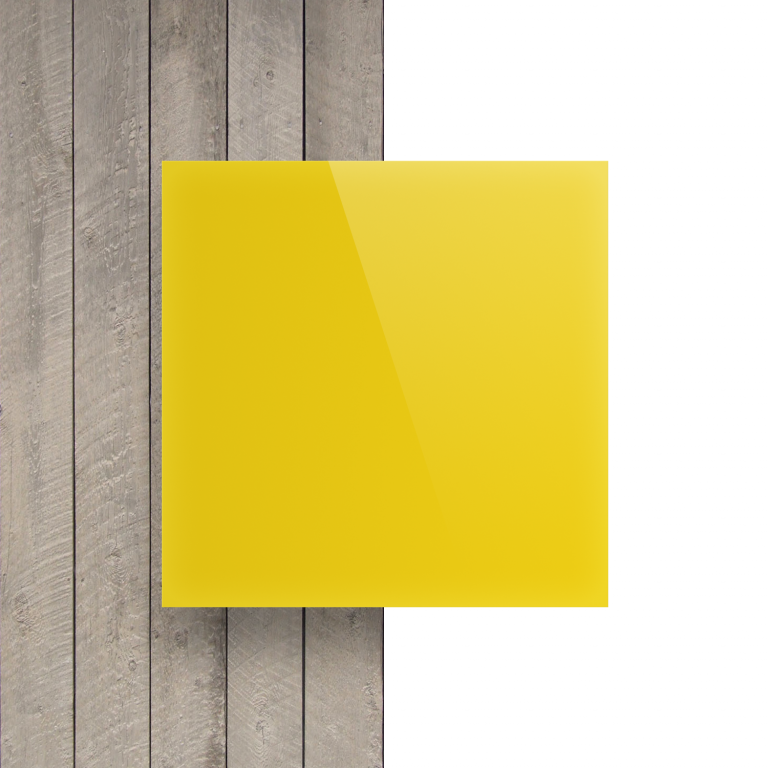 Vorseite Acrylglas Platte opal gelb