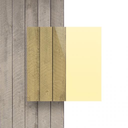 Vorseite Acrylglas Platte fluoreszierend gelb