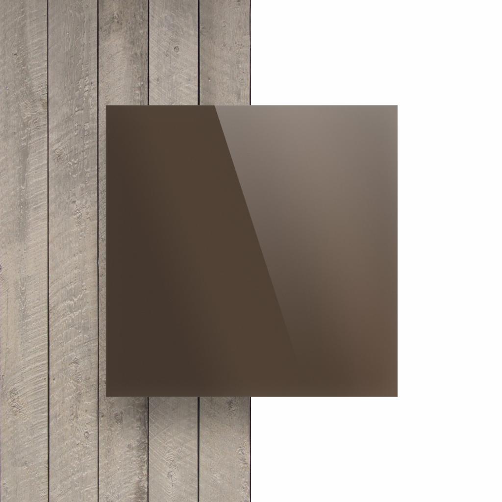Vorseite Acrylglas Platte spiegel bronze