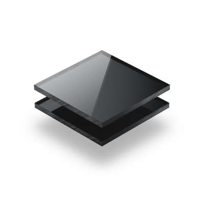 Anthrazit spiegel Acrylglas Platte XT