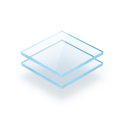 Blau fluoreszierend Acrylglas Platte GS