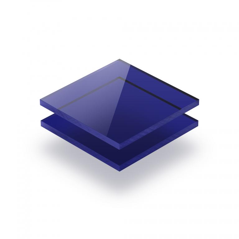Blau getönt Acrylglas Platte GS