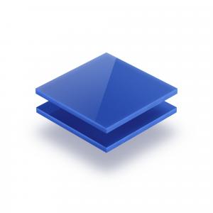Blau opal Acrylglas Platte