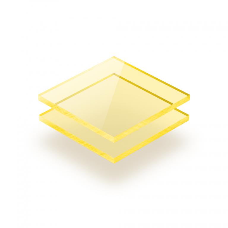 Gelb fluoreszierend Acrylglas Platte GS