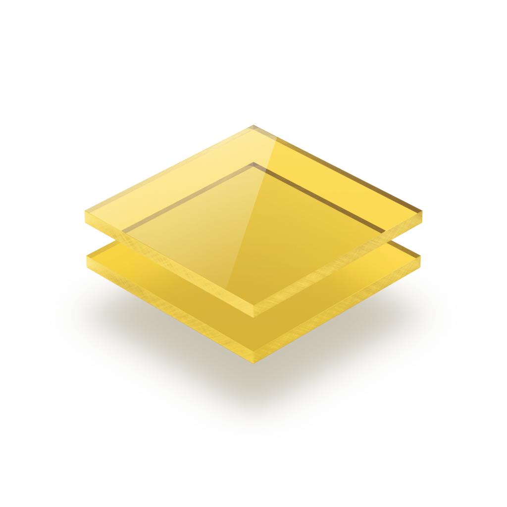 Gelb getönt Acrylglas Platte GS