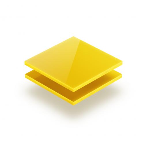Gelb opal Acrylglas Platte