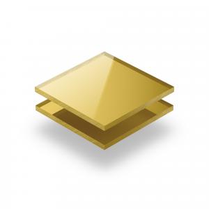 Gold spiegel Acrylglas Platte XT