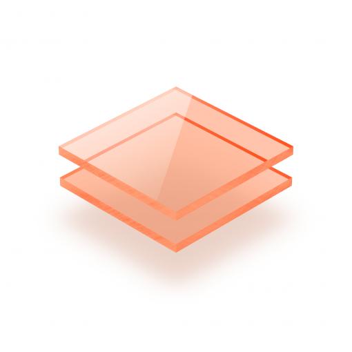Orange fluoreszierend Acrylglas Platte GS