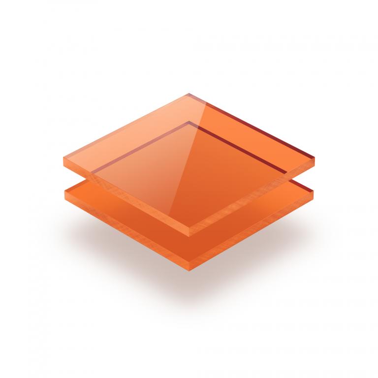 Orange getönt Acrylglas Platte GS