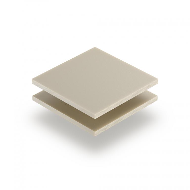 Perlweiß RAL 1013 Acrylglas Platte matt