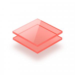 Rot fluoreszierend Acrylglas Platte GS