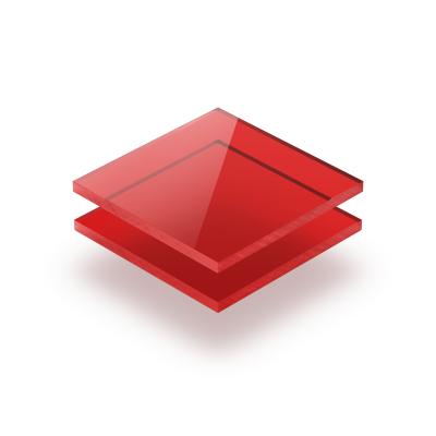 Rot getönt Acrylglas Platte GS
