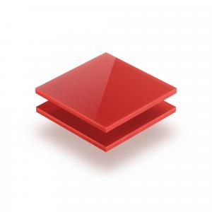 Rot opal Acrylglas Platte