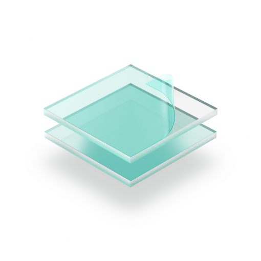 transparentes Plexiglas mit Schutzfilm