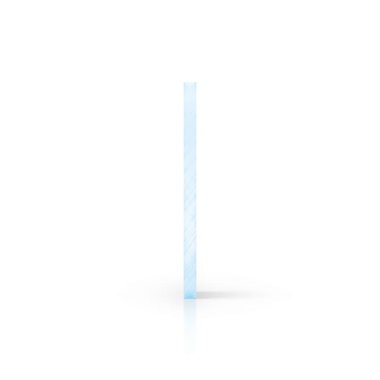 Seite fluoreszierend blau Acrylglas Platte