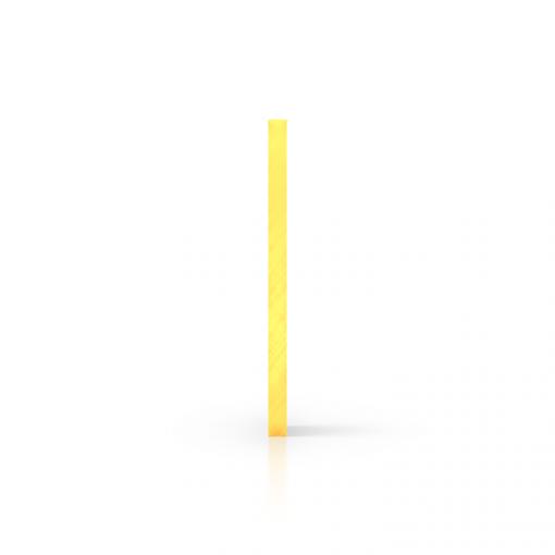 Seite fluoreszierend gelb Acrylglas Platte