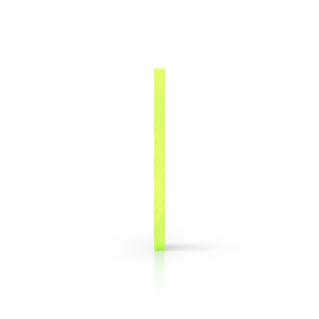 Seite fluoreszierend gruen Acrylglas Platte