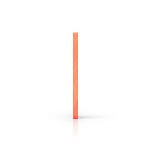 Seite fluoreszierend orange Acrylglas Platte