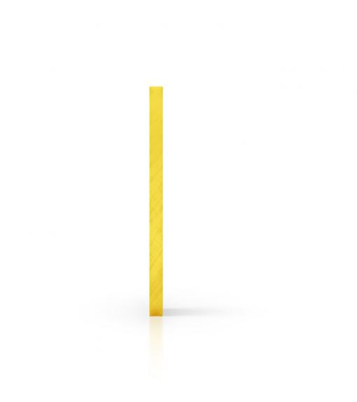 Seite getoent gelb Acrylglas Platte
