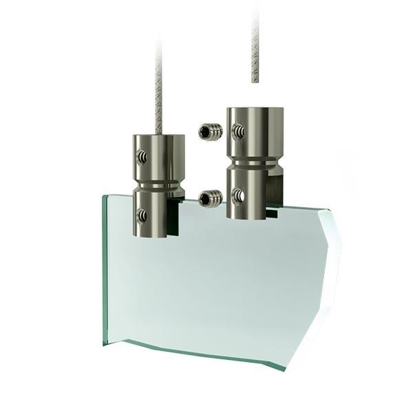 Acrylglas aufhaengesystem - Edelstahl Plattenhalter