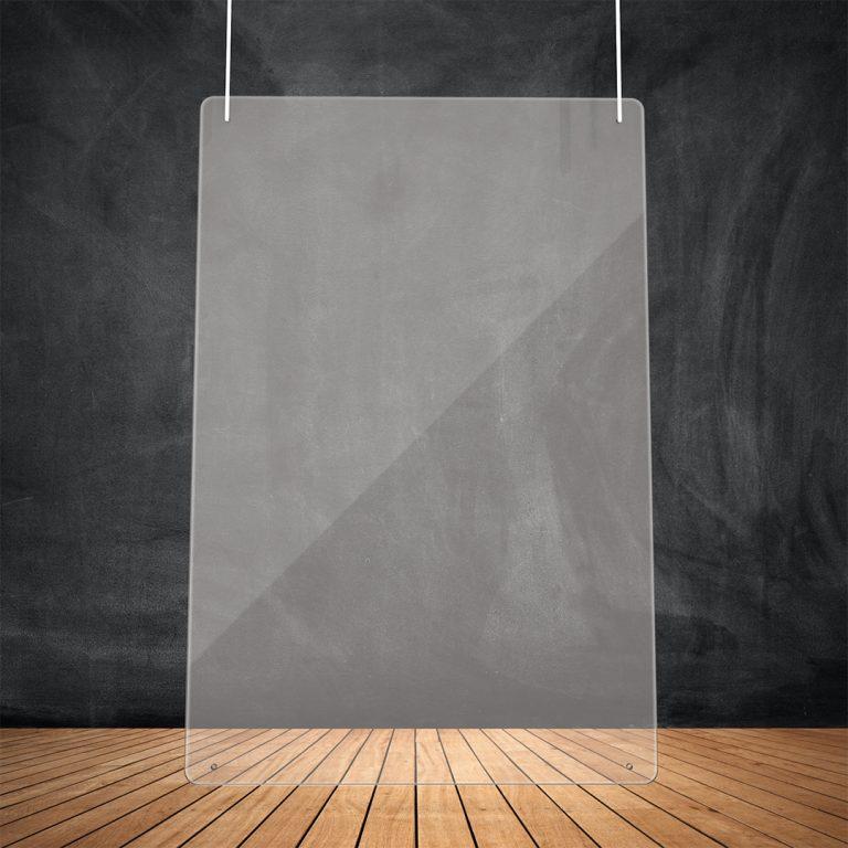Transparente Schutzwand zum Aufhaengen 100x75