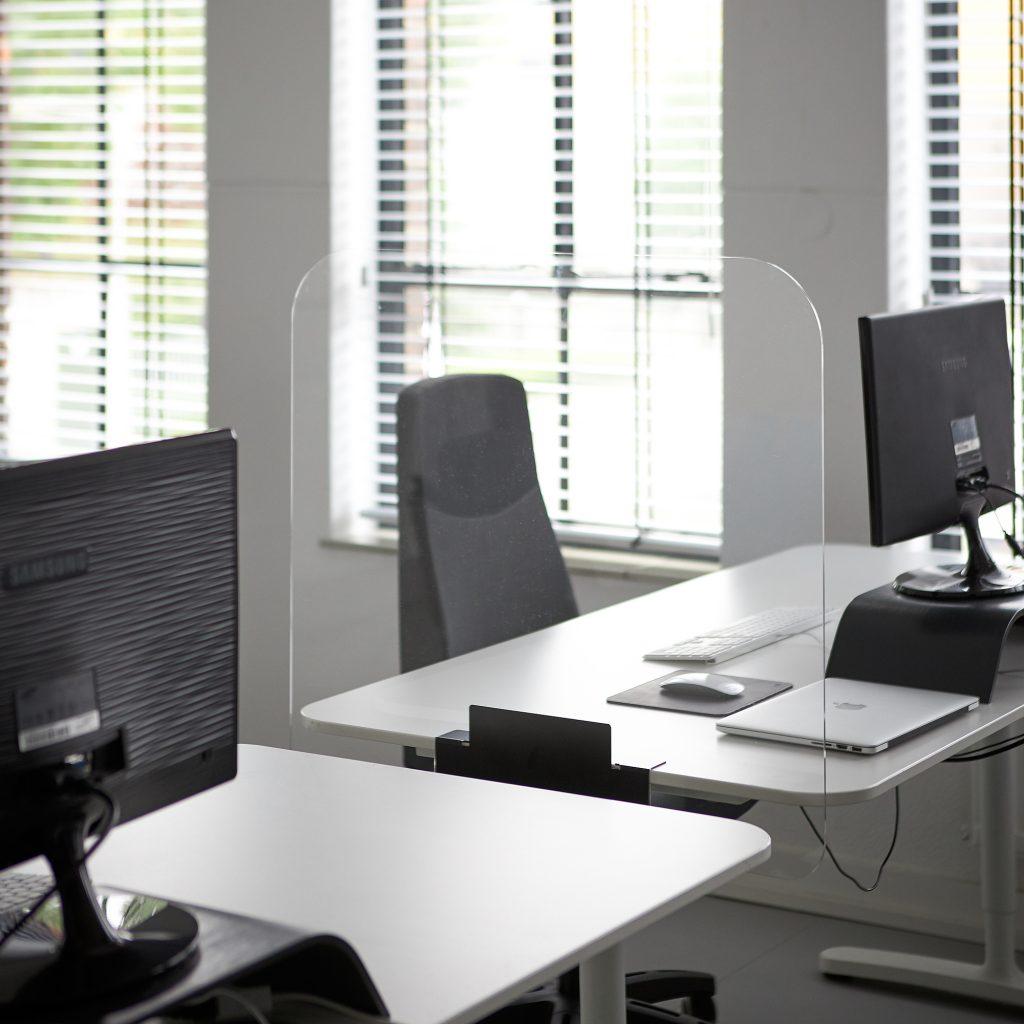 Acrylglas Schreibtisch Trennwand