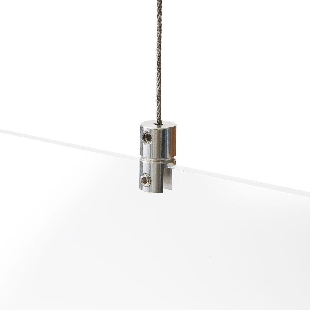 Acrylglas Schutzwand aufhaengesystem ohne Bohren