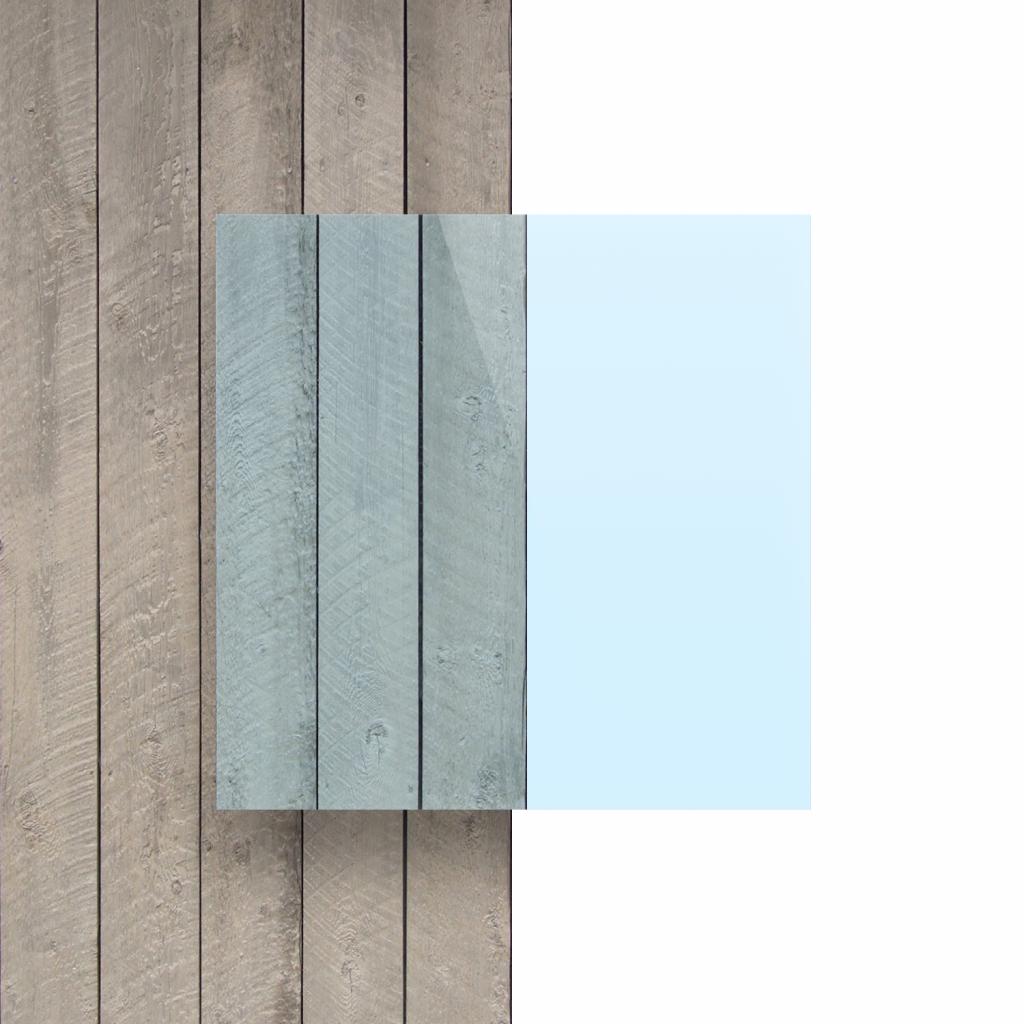 Acrylglas Platte fluoreszierend blau Vorseite