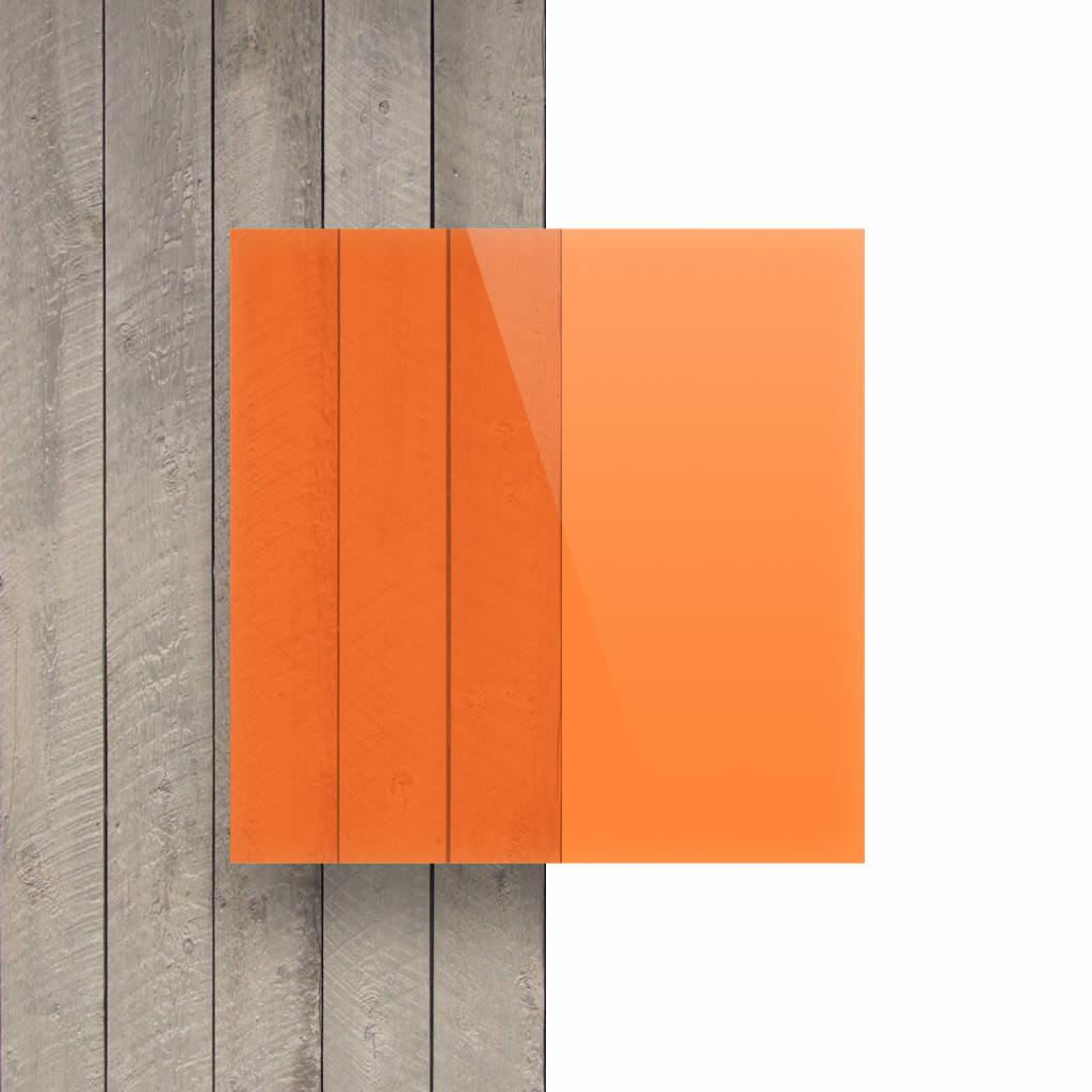 Acrylglas Platte fluoreszierend orange Vorseite