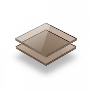 Braun getönt Acrylglas Platte GS