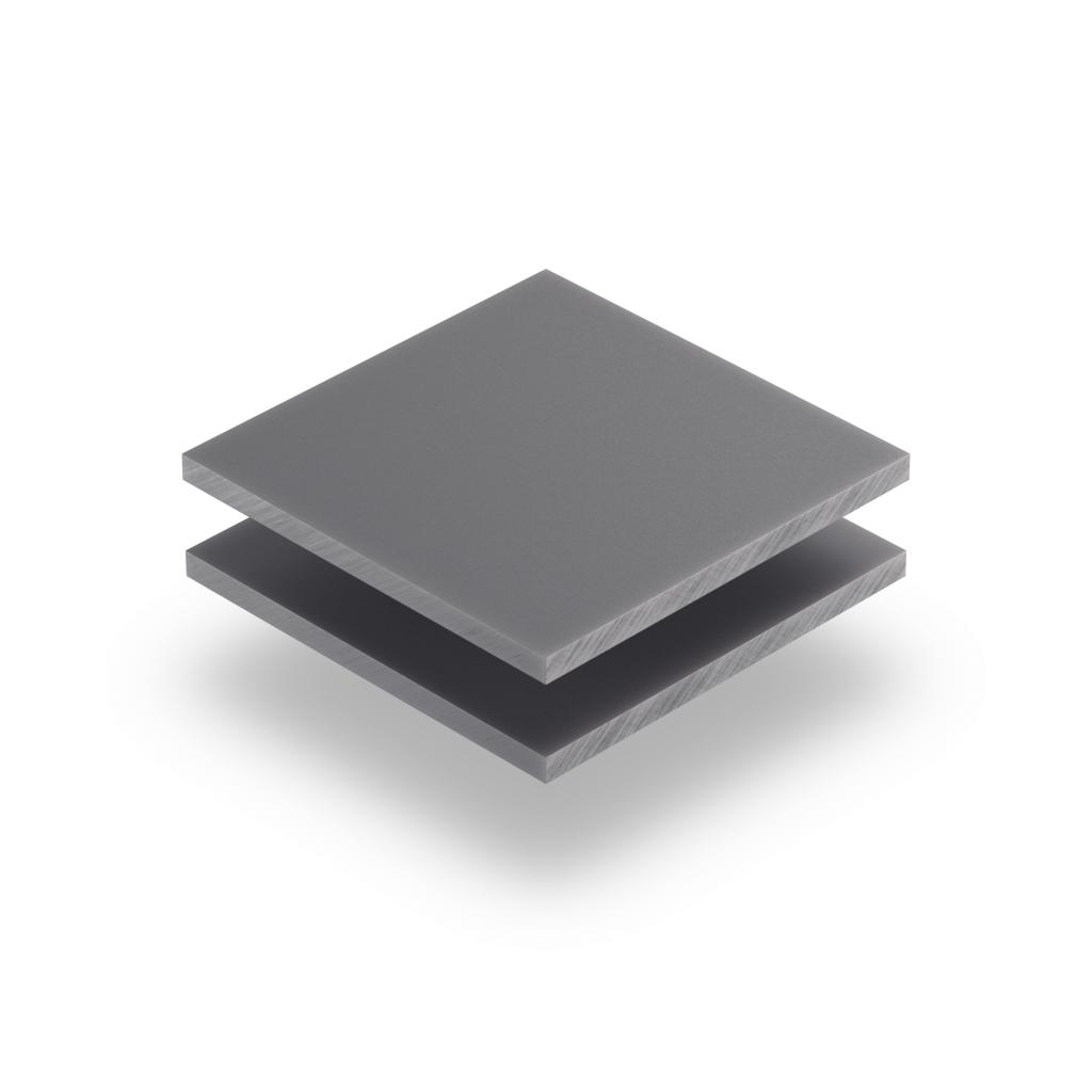 Buchstabenplatte grau 8mm