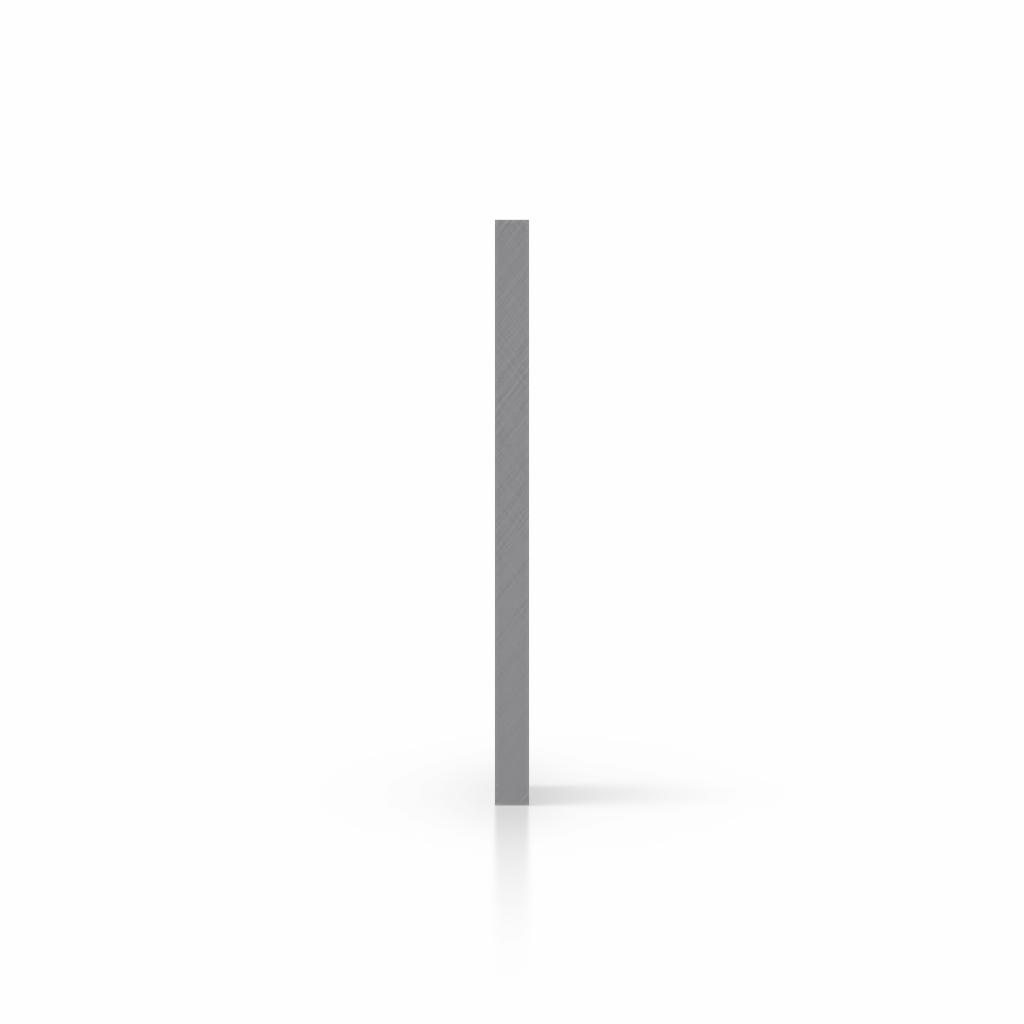 Buchstabenplatte grau seite