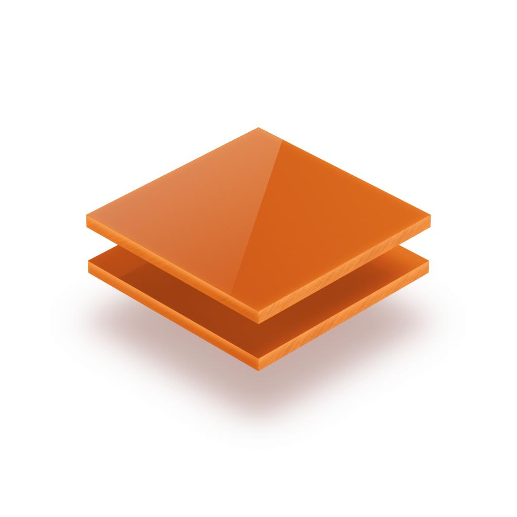 Buchstabenplatte orange 8mm