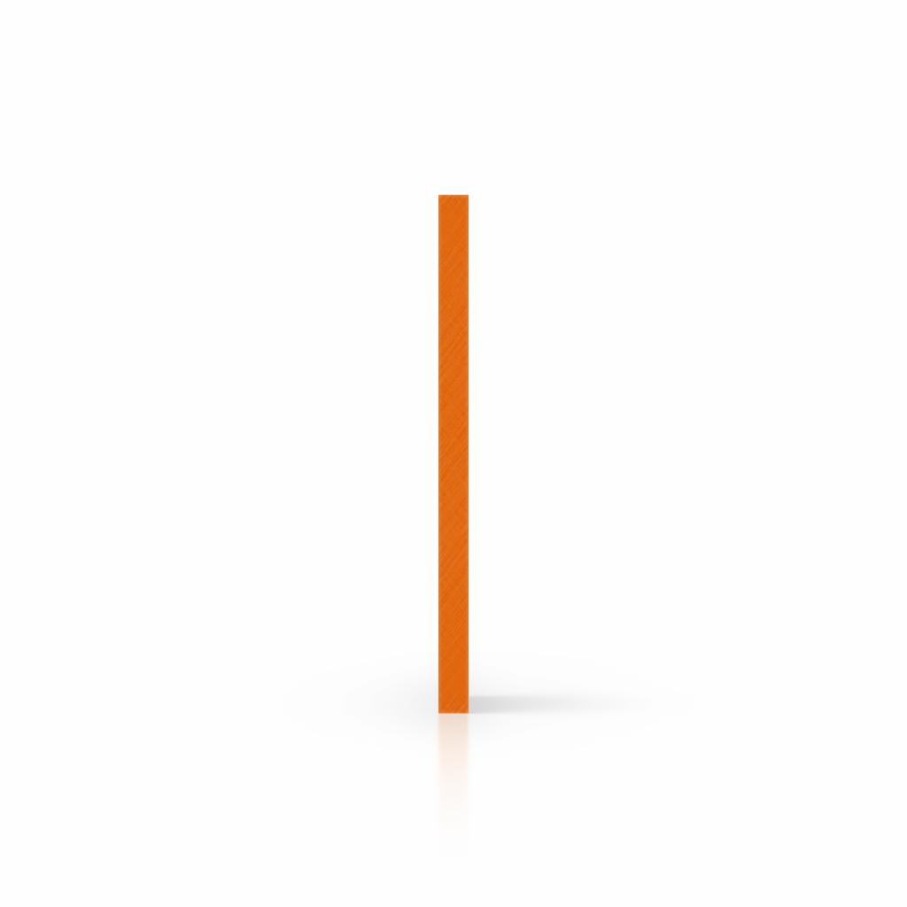 Buchstabenplatte orange seite