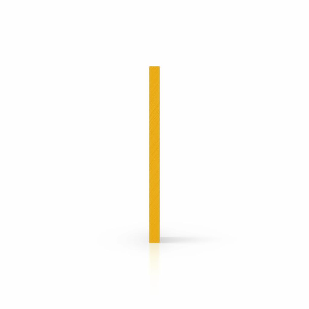Buchstabenplatte verkehrsgelb seite