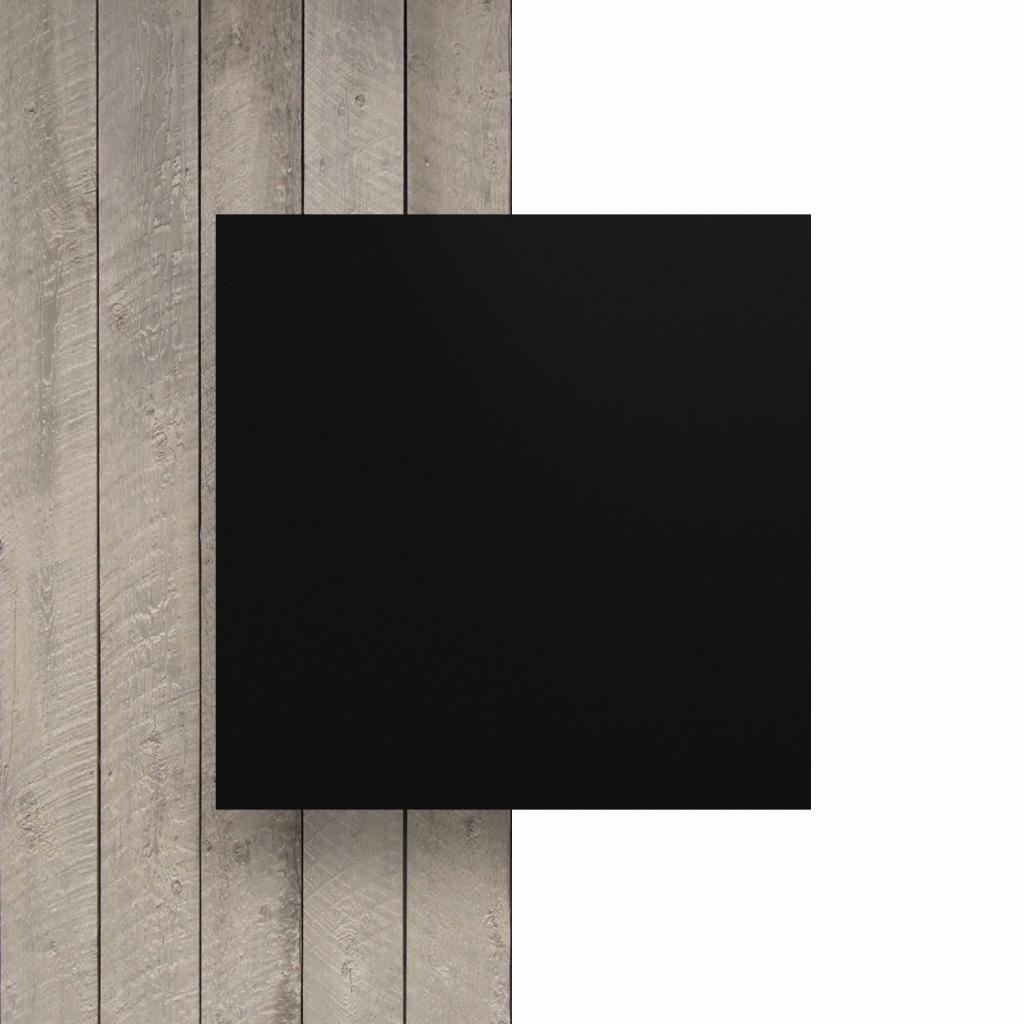 Vorseite Buchstabenplatte schwarz matt