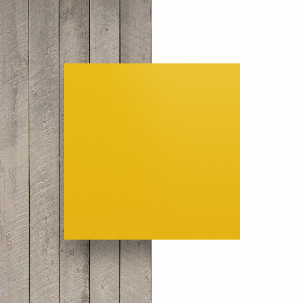 Vorseite Buchstabenplatte verkehrsgelb matt