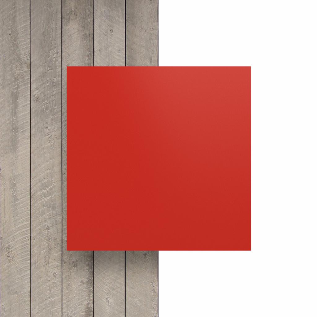 Vorseite Buchstabenplatte verkehrsrot matt