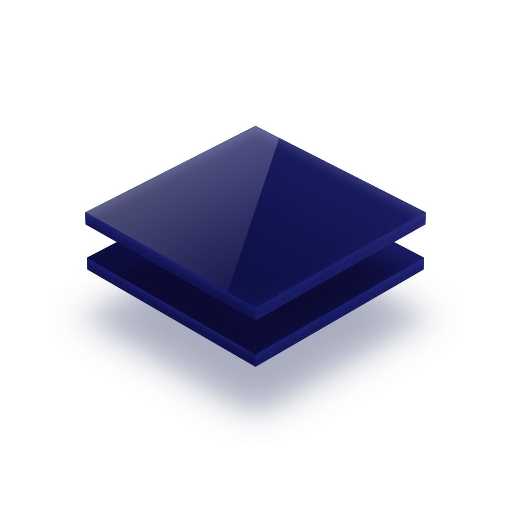 Nachtblau Acrylglas Buchstabenplatte glaenzend