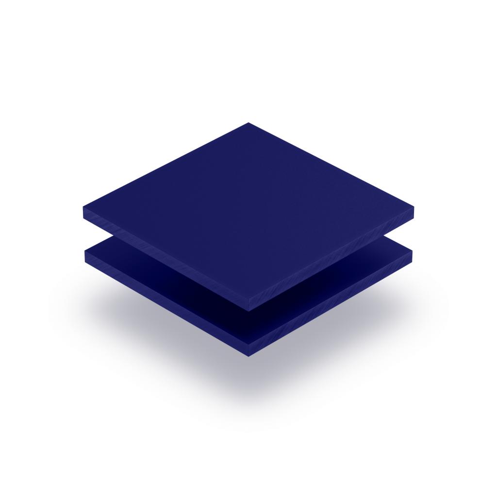 Nachtblau Acrylglas Buchstabenplatte matt