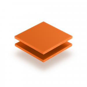 Orange Acrylglas Buchstabenplatte matt