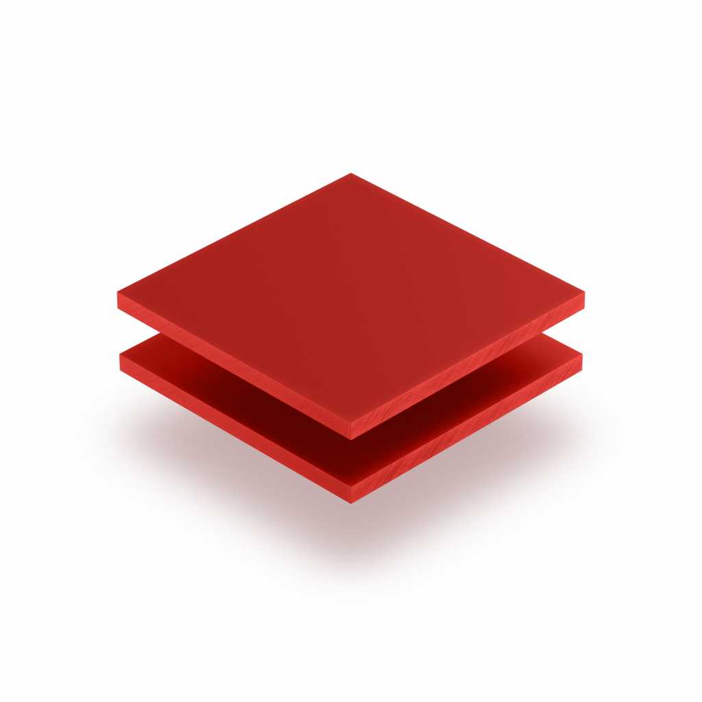 Signalrot Acrylglas Buchstabenplatte matt