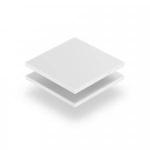 Weiß Acrylglas Buchstabenplatte matt