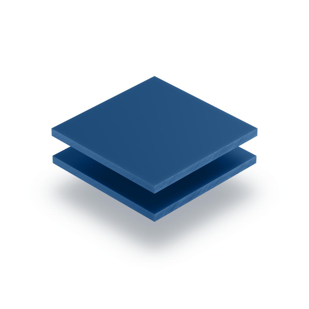 Blau Acrylglas Buchstabenplatte matt