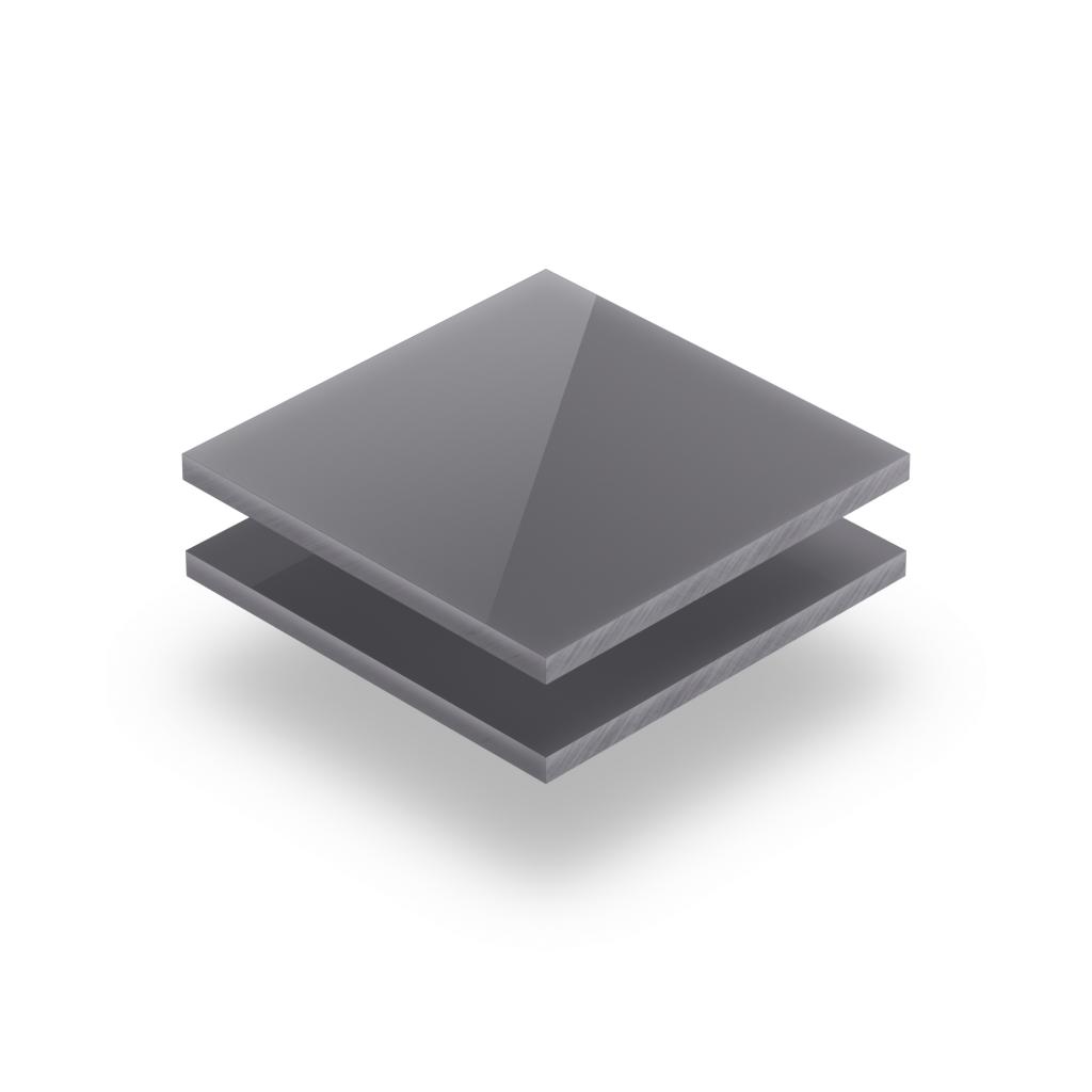 Glaenzend grau Acrylglas Buchstabenplatte