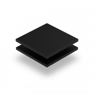 Schwarz Acrylglas Buchstabenplatte matt